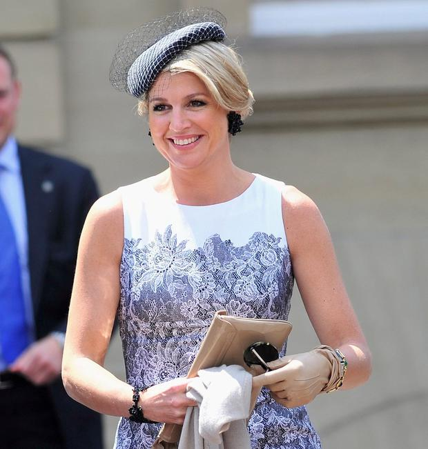 Fashionista: Máxima shows off one of her stylish outfits earlier this year. Photo: Lennart Preiss/Getty Images
