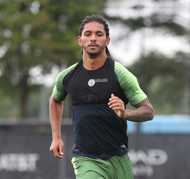 Star quality: Manchester City's Douglas Luiz is part of the Brazil squad in Toulon