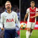 Christian Eriksen, Matthijs de Ligt and Eden Hazard