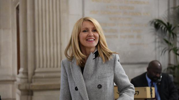 Esther McVey has condemned the BBC over its TV licence move (David Mirzoeff/PA)