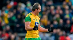 Michael Murphy of Donegal celebrates win over Tyrone