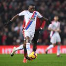 Aaron Wan-Bissaka in action against Manchester United. (Photo by Laurence Griffiths/Getty Images)