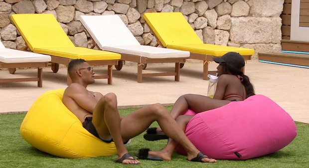 Danny and Yewande on Love Island episode 8. ITV2/Virgin Media Two