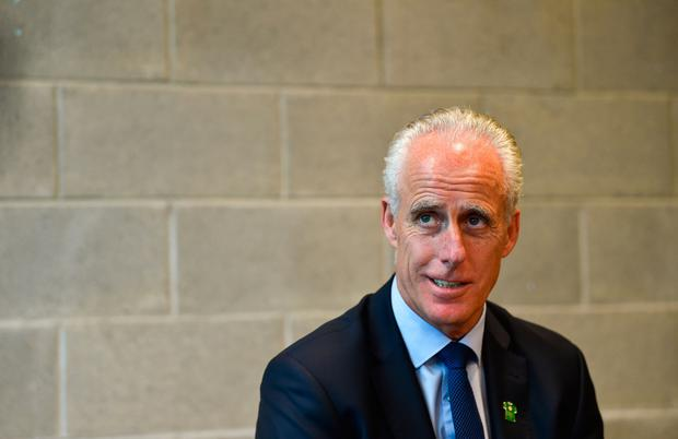 Republic of Ireland manager Mick McCarthy at the FAI National Football Exhibition at UL Sports Arena, University of Limerick. Photo by Diarmuid Greene/Sportsfile