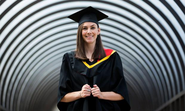 Inspired: Kelly Hadfield was conferred from the Graduate Entry Medical School at University of Limerick. Photo: Oisin McHugh, True Media