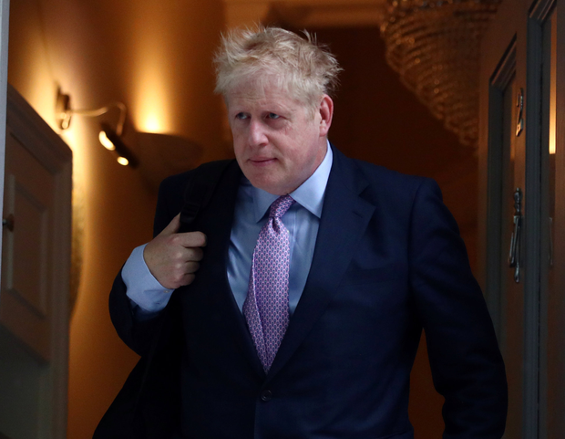 Frontrunner: Boris Johnson, who wants to succeed Theresa May as UK prime minister, leaves his home in London on Monday. Photo: Reuters