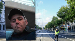 Peter Donnelly (inset) died following a stabbing incident on O'Connell Street