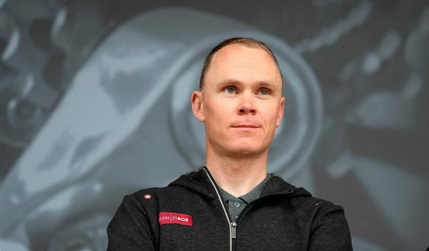High-speed collision: Team Ineos's Chris Froome broke his femur after hitting a wall in a 60kmph crash. Photo: PA