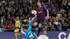 Crackdown: La Liga says it was trying to find people illegally streaming football matches like Real Madrid v Barcelona. Picture: Reuters