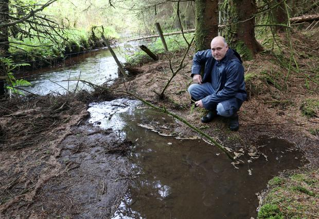 Fears of run off which eventually feeds into Lough Gill.
