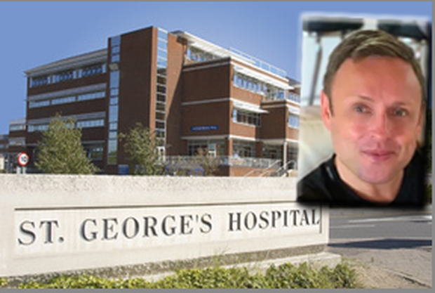 A post-mortem examination at St George's Hospital into the death of Adrian Murphy (inset) failed to determine a cause of death