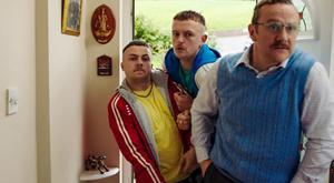 PJ Gallagher with Alex Murphy and Chris Walley in The Young Offenders