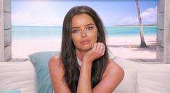 Maura Higgins on Love Island. PIC: ITV
