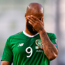 David McGoldrick of Republic of Ireland reacts during the UEFA EURO2020 Qualifier Group D match between Republic of Ireland and Gibraltar at Aviva Stadium, Lansdowne Road in Dublin. Photo by Stephen McCarthy/Sportsfile