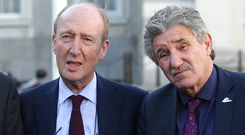 Ministers: Shane Ross and John Halligan. Picture: Damien Eagers