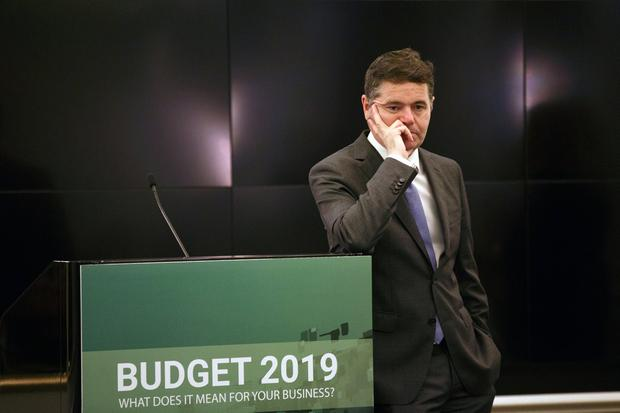 Under pressure: Finance Minister Paschal Donohoe is not his usual chipper self, say colleagues. Photo: Mark Condren