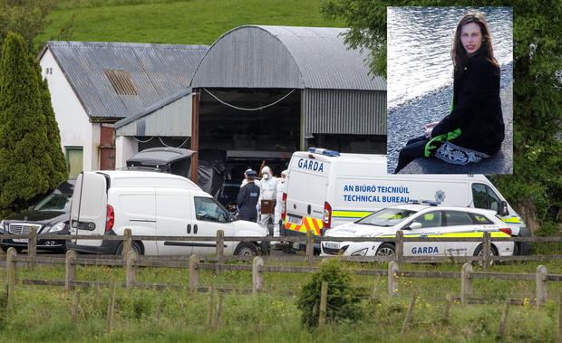 Forensic Gardai remove the remains of Valerie Kilroy from a hay barn at Kilbree, Westport, Co Mayo. Pic:Mark Condren 15.6.2019