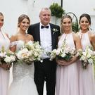 Gemma Shreeves with bridesmaids and her father. Picture: Stephen Collins/Collins Photos