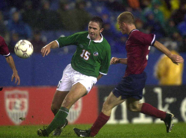 Gareth Farrelly in action for Ireland against the USA in 2000. Photo: David Maher/SPORTSFILE