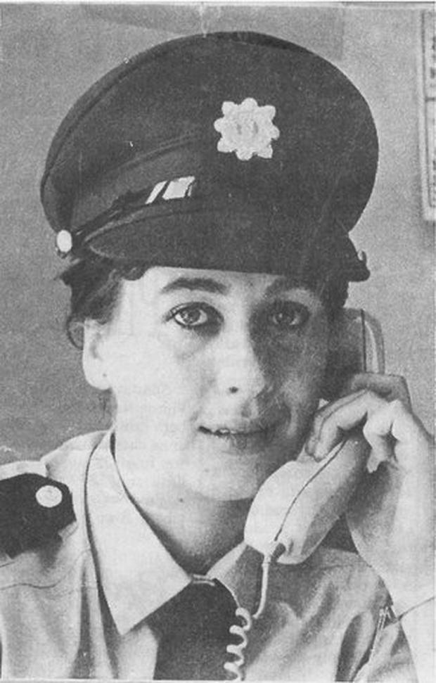 Majella Moynihan as a young garda