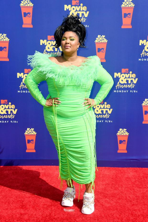 Lizzo attends the 2019 MTV Movie and TV Awards at Barker Hangar on June 15, 2019 in Santa Monica, California. (Photo by Frazer Harrison/Getty Images for MTV)