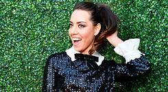 Aubrey Plaza attends the 2019 MTV Movie and TV Awards at Barker Hangar on June 15, 2019 in Santa Monica, California. (Photo by Emma McIntyre/Getty Images for MTV)