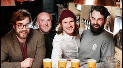 Alex Lawes, Alan Wolfe, David Parle and Packie McCarthy who are behind the 'Fidelity A Beer Festival', taking place July 13 at The Mansion House in Dublin Pic: Steve Humphreys