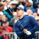 Rory McIlroy of Northern Ireland 17t during the third round of the 2019 U.S. Open at Pebble Beach Golf Links on June 15, 2019 in Pebble Beach, California. (Photo by Ezra Shaw/Getty Images)