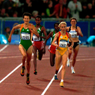 O'Sullivan in action against Gabriela Szabo in the 5,000m at the Sydney Olympics in 2000. Photo: Brendan Moran / SPORTSFILE