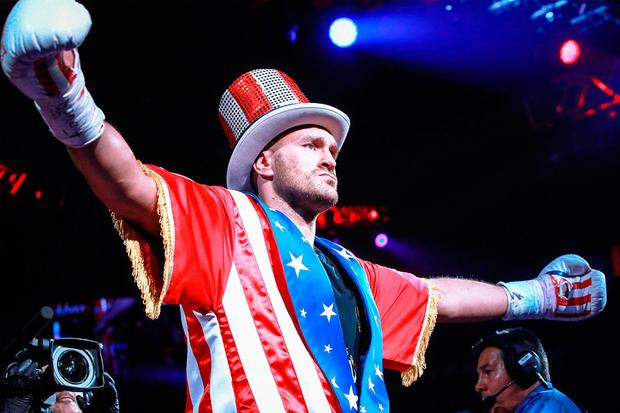 Tyson Fury before his victory over Tom Schwarz. Photo: Mikey Williams/Top Rank/PA Wire