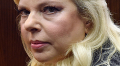 Sara Netanyahu awaits the verdict at the hearing in Jerusalem. Photo: Debbie Hill/Pool via REUTERS
