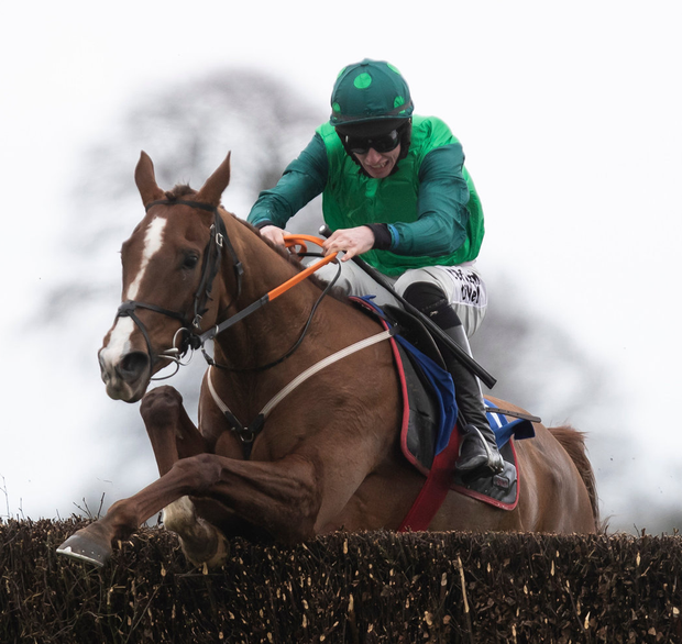 UP AND OVER: Mrs Lovett and Jack Kennedy winning at Thurles in February. Photo: Patrick McCann/Racing Post