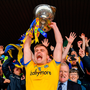 Roscommon captain Enda Smith lifts the trophy following his side's victory during the Connacht GAA Football Senior Championship Final. Photo: Seb Daly/Sportsfile