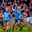 Dublin players celebrate at the final whistle. Photo: Ramsey Cardy/Sportsfile