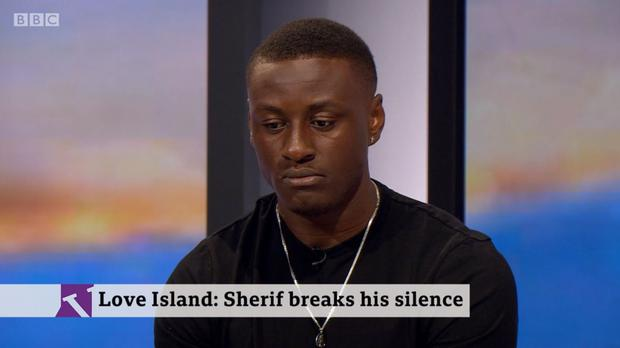Sherif Lanre has accused Love Island bosses of 'unconscious bias' over gender and race (BBC Two/Victoria Derbyshire/PA)