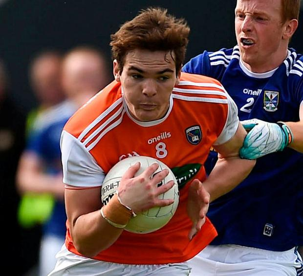 Burns: Returning to action. Photo: Philip Fitzpatrick/Sportsfile