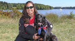 Policy: Victoria Nolan was told her dog was not allowed in the hotel – but the hotel later said she had been told this in error