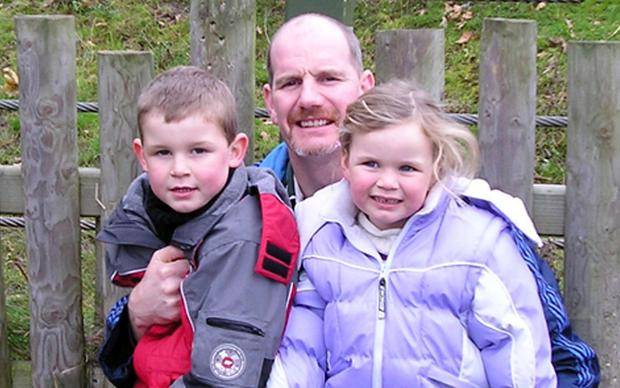 Family: Jimmy Norman with daughter Aoibheann, who died of cancer in 2010, and son Sean. Photo: Ciara Wilkinson