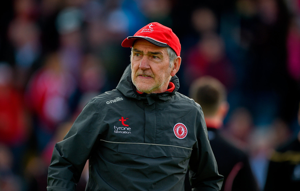 PLAN A: Tyrone's Mickey Harte struggled to get past Donegal's tactics. Photo by Daire Brennan/Sportsfile