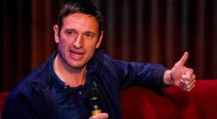 Noel Mooney, interim boss at the FAI, speaking on the Greatest League in the World podcast's live event at the Sugar Club in Dublin last night. Photo by Eóin Noonan/Sportsfile