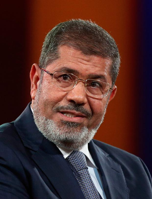 Trial: Mohammed Morsi addressed the court just before he collapsed. Photo by Mario Tama/Getty Images