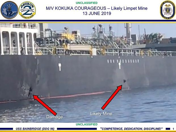 US releases photos to bolster claim Iran attacked tankers