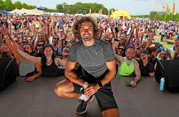 The fitness guru wows the crowd at the recent WellFest in Dublin