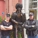 Bon Jovi post with statue of Phil Lynott in Dublin. PIC: Jon Bon Jovi/Instagram