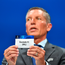 UEFA Head of Club Competitions Michael Heselschwerdt draws out the name of Dundalk during the UEFA Champions League first qualifying round draw in Nyon, Switzerland. Photo by UEFA via Sportsfile