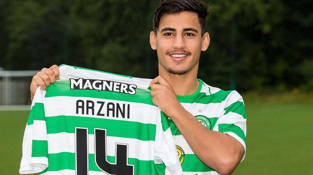 Daniel Arzani who is on loan from Manchester City to Celtic