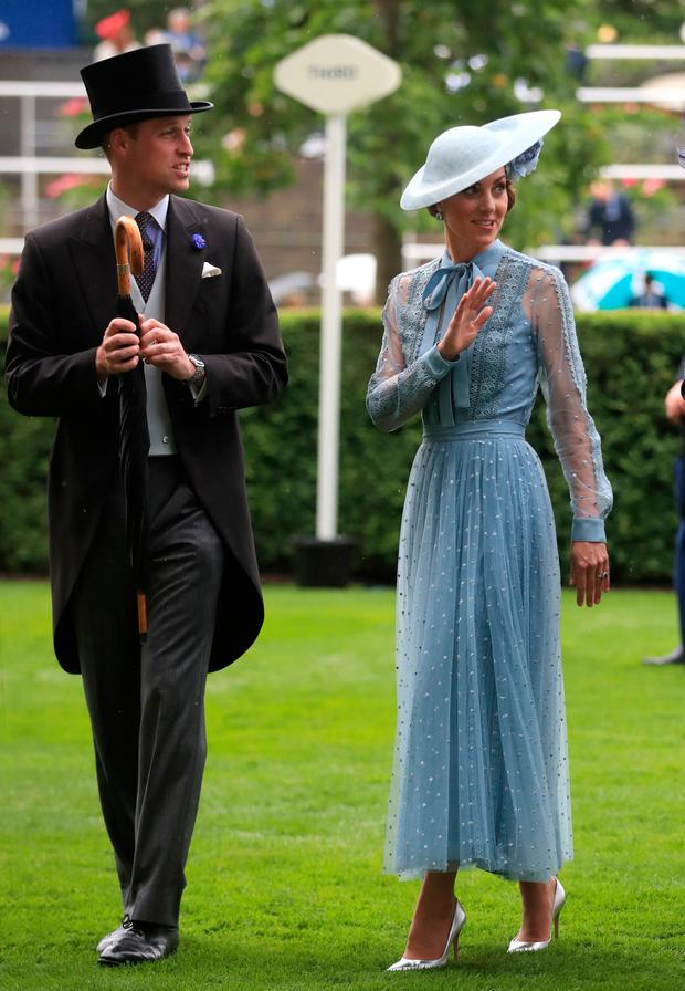 The Duke and Duchess of Cambridge during day one of Royal Ascot at Ascot Racecourse. Adam Davy/PA Wire