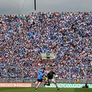 Fans look on from Hill 16 during the 2014 Leinster SFC final between Dublin and Meath at Croke Park. Photo: Tomás Greally/SPORTSFILE