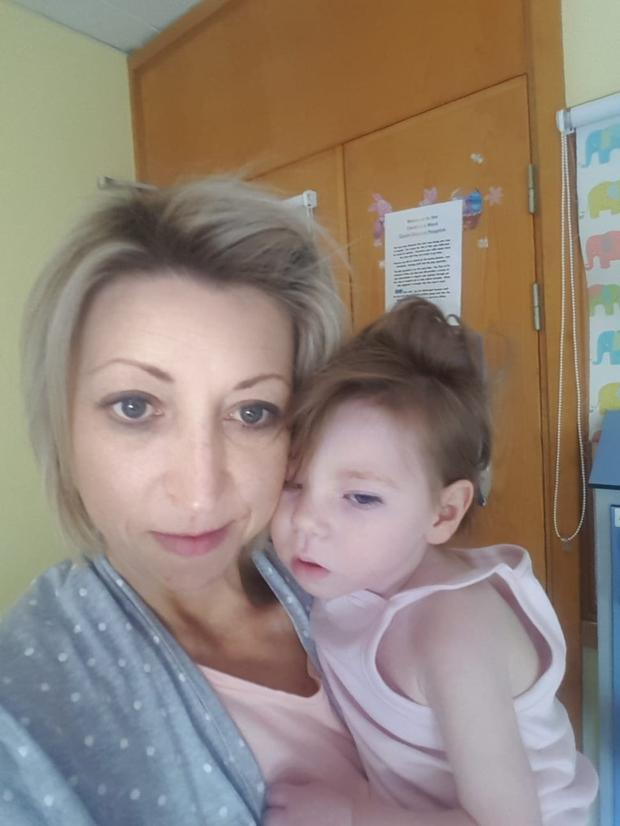 Carer: Tracy Carroll with her daughter Willow (2)