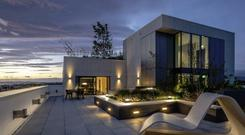 Life of luxury: The Galileo Penthouse at Number One Ballsbridge is still on the market at €15,000 a month – having been advertised at €19,000 a month – for a one-year lease